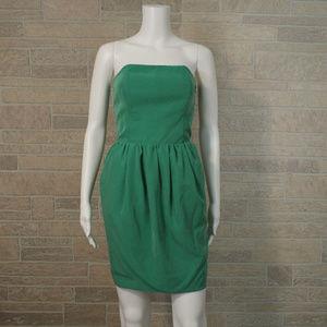Rachel Roy Green Strapless Open Back Pocket Dress